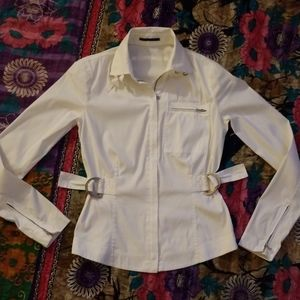 Ellie Tahari white casual jacket